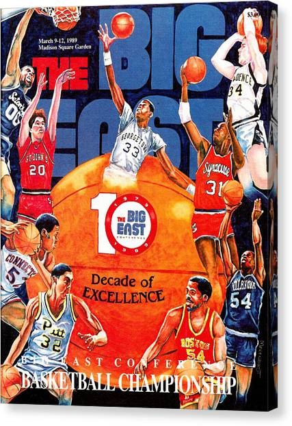 Boston College Canvas Print - Big East Vintage Basketball Program by John Farr