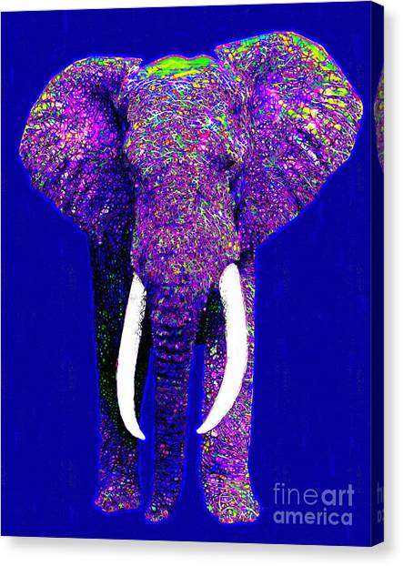Big Elephant 20130201m118 Canvas Print by Wingsdomain Art and Photography