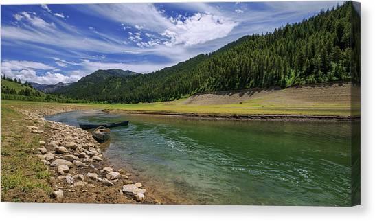 Canoe Canvas Print - Big Elk Creek by Chad Dutson