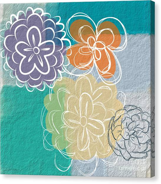 Floral Canvas Print - Big Flowers by Linda Woods