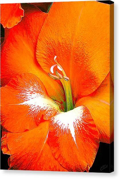Big Glad In Bright Orange Canvas Print
