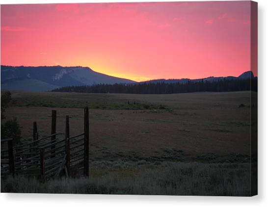 Big Horn Sunrise Canvas Print