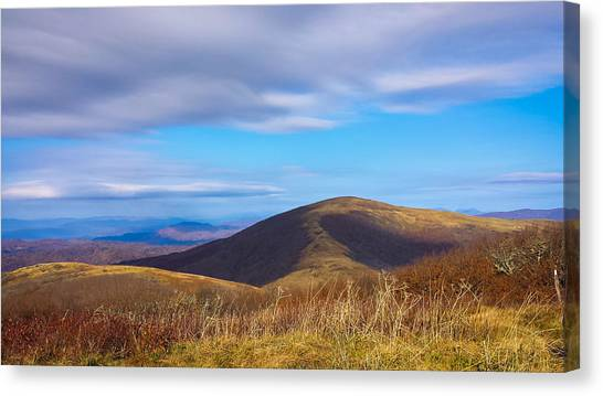 Appalachian Mountains Canvas Print - Big Hump Mountain by Denesia Christine Huttula