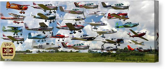 Big Muddy Fly-by Collage Canvas Print