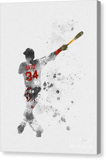 Minnesota Twins Canvas Print - Big Papi by Rebecca Jenkins