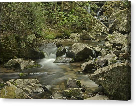 Marquette University Canvas Print - Big Pup Falls 2 by Michael Peychich
