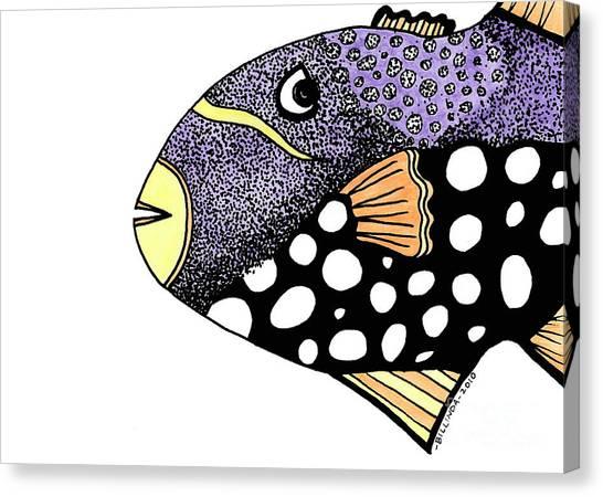 Big Purple Fish Canvas Print