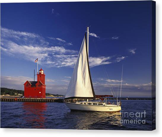 Motoring Canvas Print - Big Red - Fm000060 by Daniel Dempster