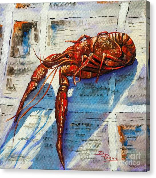 Seafood Canvas Print - Big Red by Dianne Parks