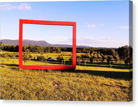 Big Red Frame Easthampton Canvas Print