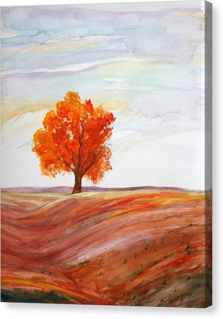 Big Red Canvas Print by Julie Lueders