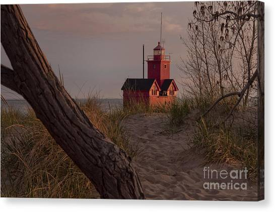 Big Red Lighthouse Visit Www.angeliniphoto.com For More Canvas Print by Mary Angelini