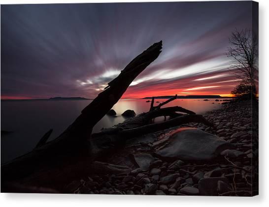 Sleeping Giant Canvas Print - Big Red Sky, Point Place 2 by Jakub Sisak