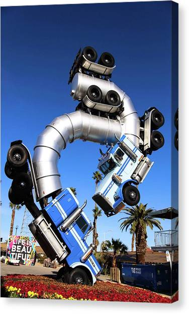 Big Rig Jig Balancing In Vegas Canvas Print