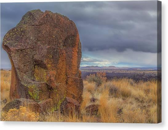 Big Rock At Lava Beds Canvas Print