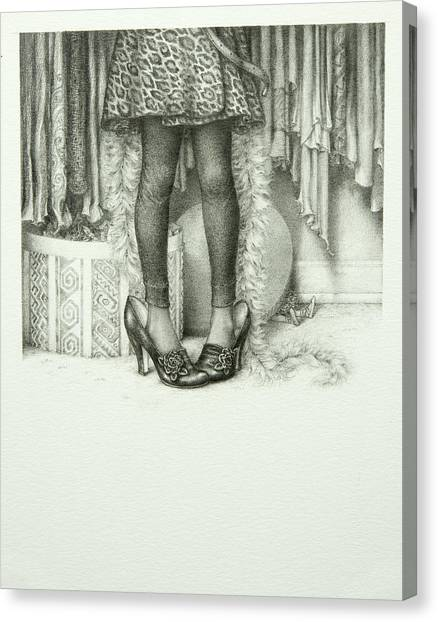 Big Sister Canvas Print - Big Shoes by Lynn Bywaters