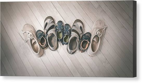 Indoors Canvas Print - Big Shoes To Fill by Scott Norris