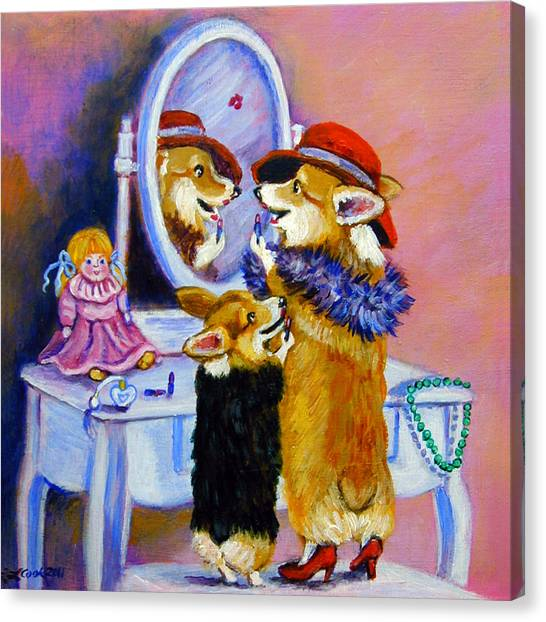 Big Sis Little Sis Canvas Print by Lyn Cook