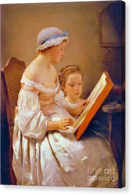Big Sister Canvas Print - Big Sister 1850 by Padre Art