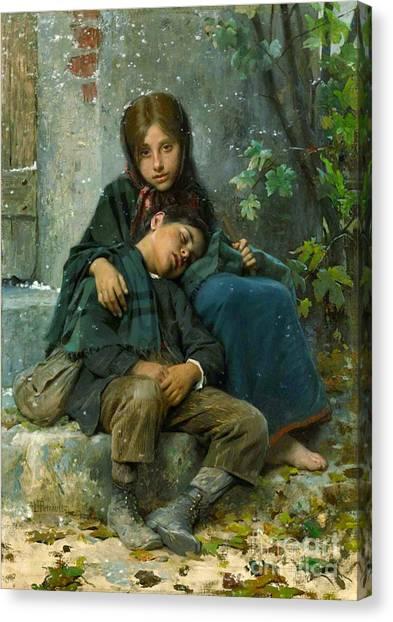 Big Sister Canvas Print - Big Sister 1890 by Padre Art