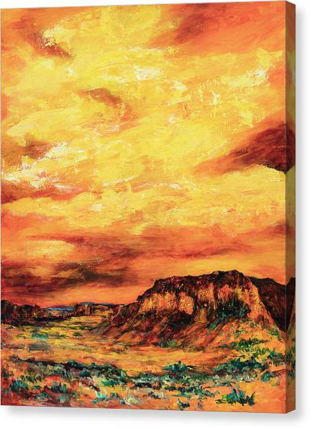 Big Sky At Capital Reef Canvas Print