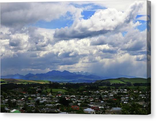Big Sky Over Oamaru Town Canvas Print