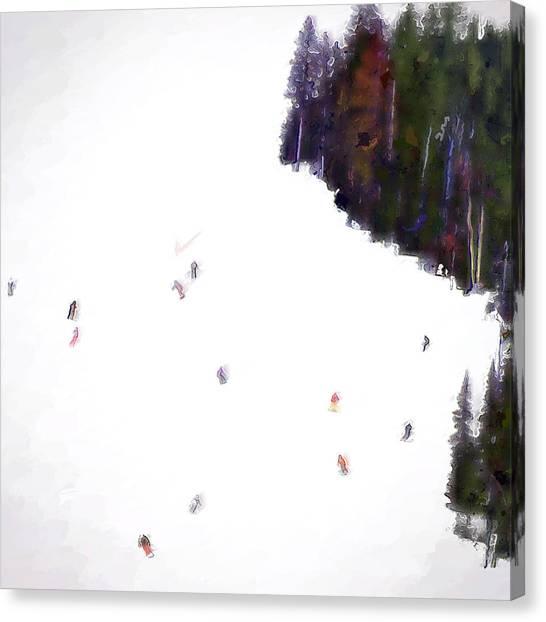 Canvas Print - Big Sky Ski by Modern Art