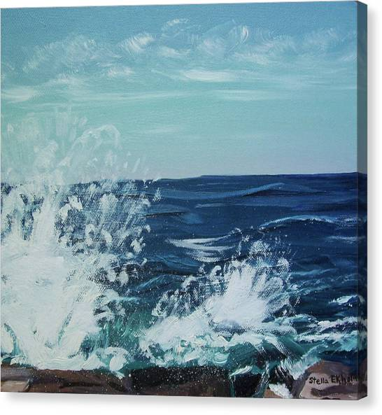 Big Splash At Schoodic Point Canvas Print
