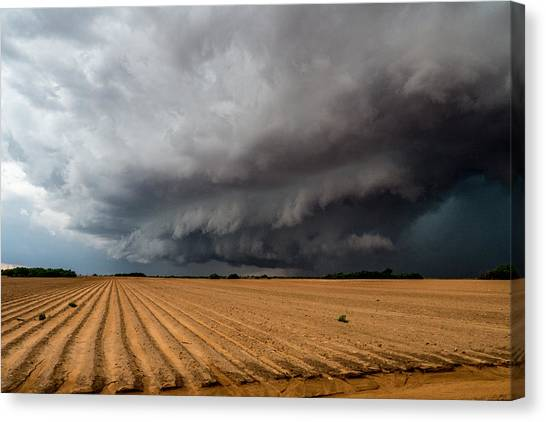 Hailstorms Canvas Print - Big Spring Beast by Eugene Thieszen