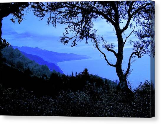 Big Sur Blue, California Canvas Print