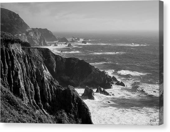 Big Sur Coast Bw  Canvas Print