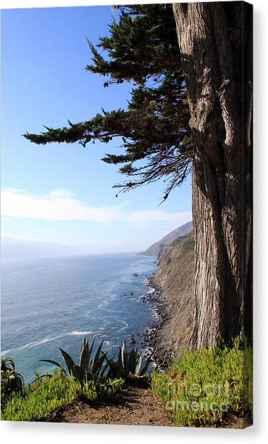 Heaven Canvas Print - Big Sur Coastline by Linda Woods