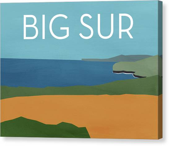 Waving Canvas Print - Big Sur Landscape- Art By Linda Woods by Linda Woods