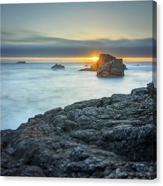 Big Sur Seascape Canvas Print by Steve Spiliotopoulos