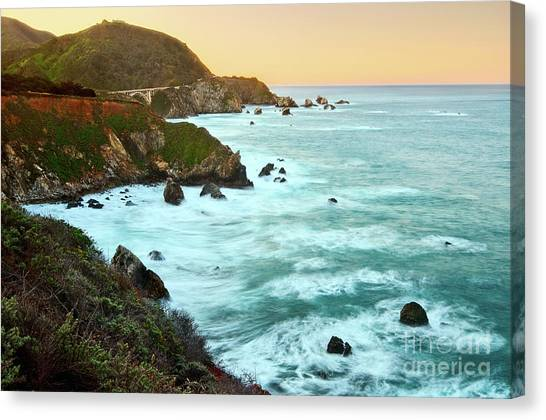 Cliffs Canvas Print - Big Sur Sunrise by Jamie Pham