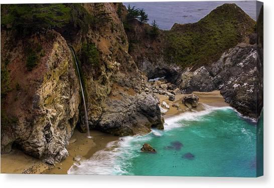 Big Sur Waterfall Canvas Print