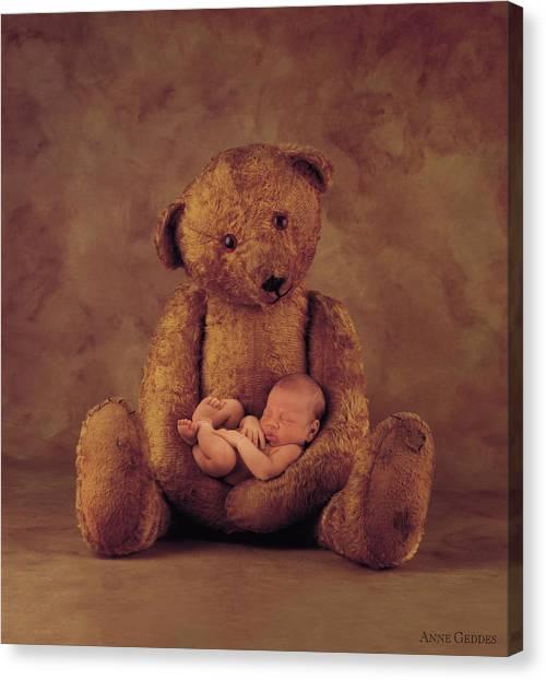 Teddy Bears Canvas Print - Big Ted by Anne Geddes
