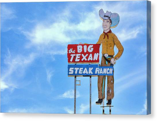 Ribeye Canvas Print - Big Texan Steak Ranch - #1 by Stephen Stookey