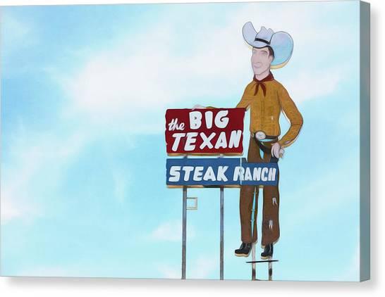 Ribeye Canvas Print - Big Texan Steak Ranch - #2 by Stephen Stookey