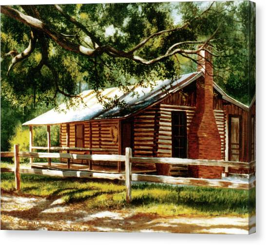 Big Thicket Information Center_the Staley Cabin Canvas Print