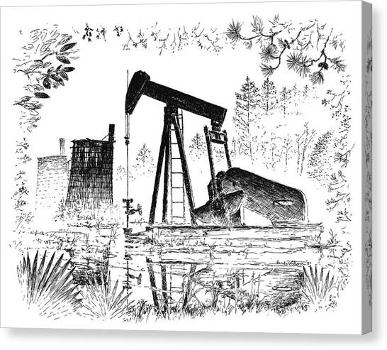 Big Thicket Oilfield Canvas Print