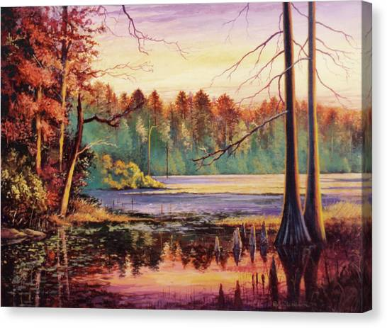 Big Thicket Swamp Canvas Print