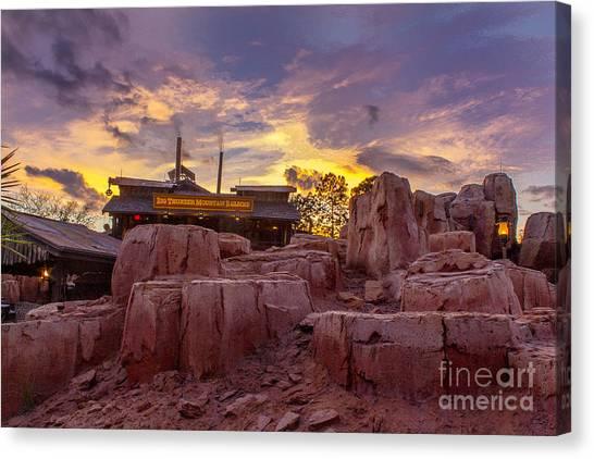 Big Thunder Mountain Sunset Canvas Print