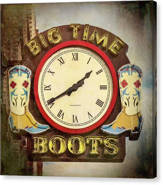 Nashville Predators Canvas Print - Big Time Boots - Nashville by Stephen Stookey