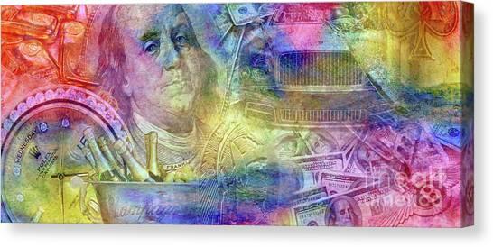 Currency Canvas Print - Big Time by Jon Neidert
