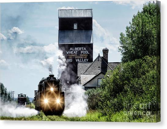 Big Valley Steam Canvas Print