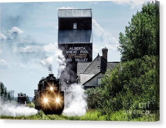Canvas Print featuring the photograph Big Valley Steam by Brad Allen Fine Art