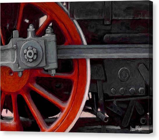 Steam Trains Canvas Print - Big Wheel by David Kyte