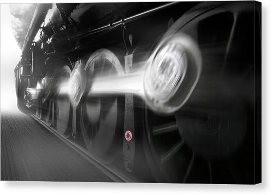American Steel Canvas Print - Big Wheels In Motion by Mike McGlothlen