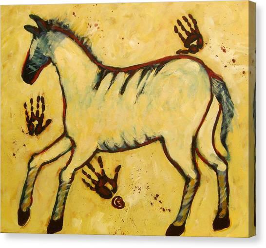 Big Yellow Lascaux Horse Canvas Print